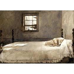 Master Bedroom Small Art Print by Andrew Wyeth