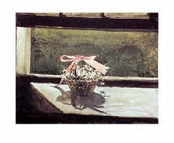 May Basket Art Print by Andrew Wyeth