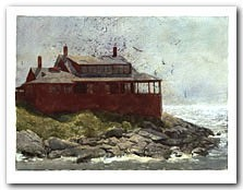 Red House Art Print by Jamie Wyeth