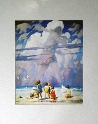 Giant Matted Art Print by N.C. Wyeth