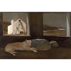 Night Sleeper Matted Art Print by Andrew Wyeth