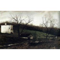 Evening at Kuerners Matted Art Print by Andrew Wyeth