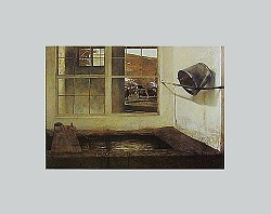 Spring Fed Matted Art Print by Andrew Wyeth