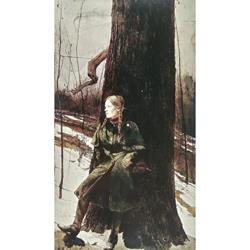 Cape Coat Art Poster by Andrew Wyeth