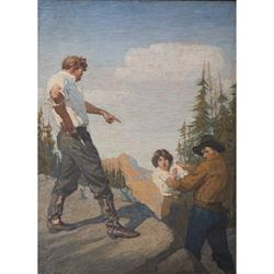 Nan of Music Mountain Art Print by N.C. Wyeth