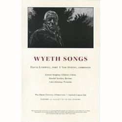 "Andrew Wyeth Portrait, ""Wyeth Songs"" Poster by Barry Moser"