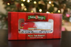 Santa Fe Locomotive Christmas Ornament