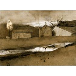 Last Light Art Print by Andrew Wyeth