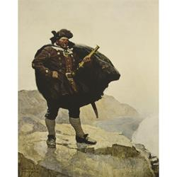 Bill Bones Art Print by N. C. Wyeth