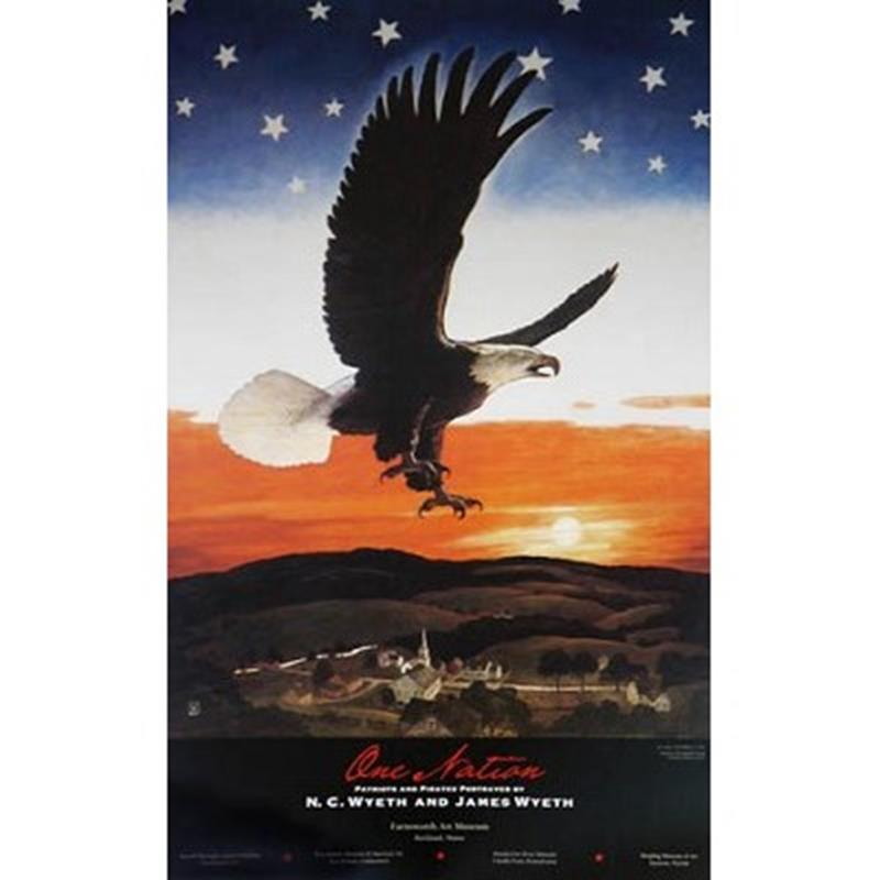One Nation / Our Emblem Exhibition Poster — N.C. Wyeth,11-99-00107-4