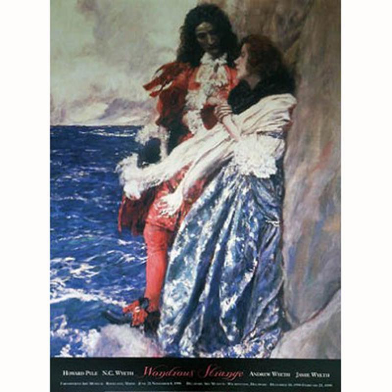 Wondrous Strange Exhibition Poster — Howard Pyle,11-99-00114-7