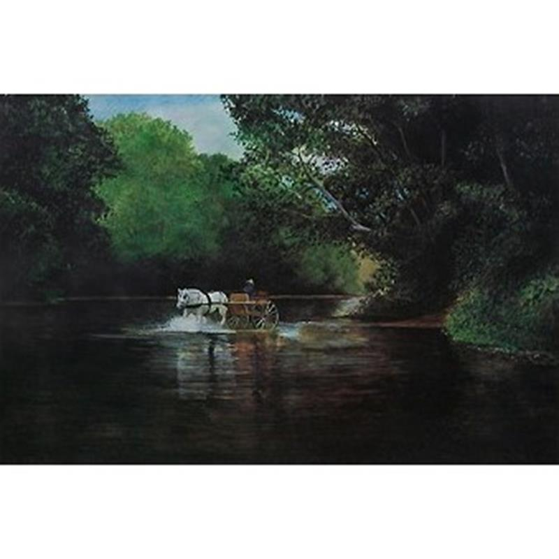 Splashing the Brandywine Signed Print — Karl Kuerner,11-99-02093-1