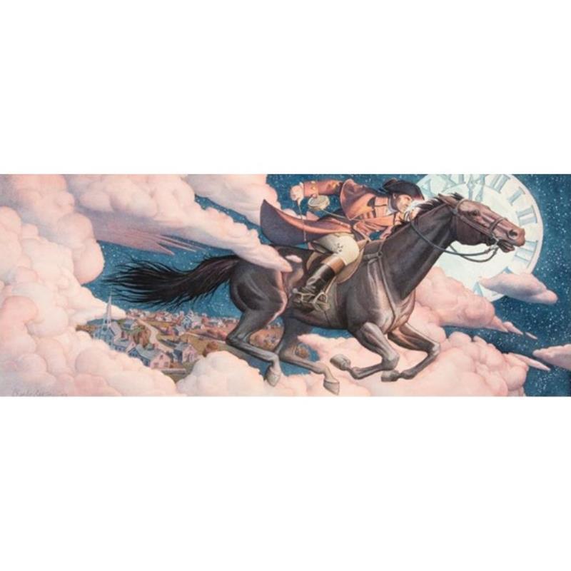 Paul Revere's Ride Signed Print — Charles Santore,11-99-03108-9