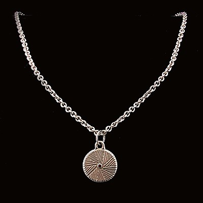 Small Millstone Pendant Sterling Silver,11-99-05027-X