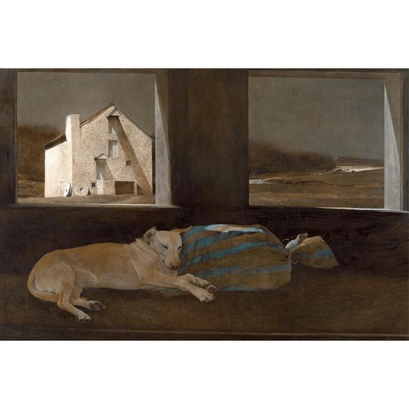 Night Sleeper Matted Art Print by Andrew Wyeth,11-99-05150-0