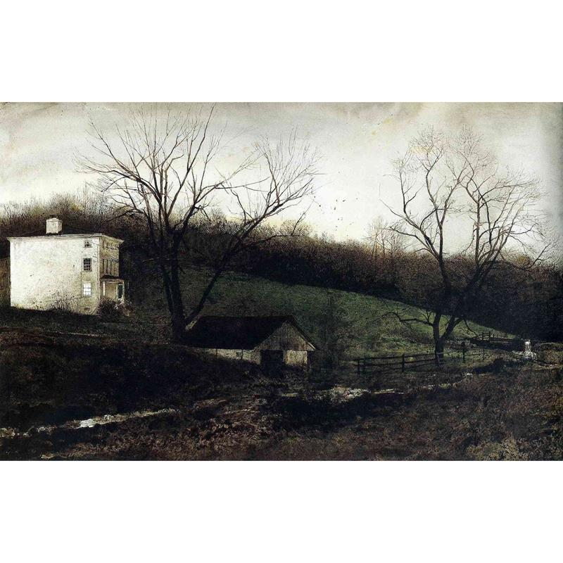 Evening at Kuerners Matted Art Print by Andrew Wyeth,11-99-05231-0