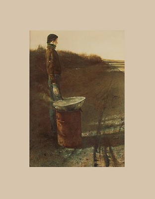 Roasted Chestnuts Matted Art Print by Andrew Wyeth,11-99-05669-3