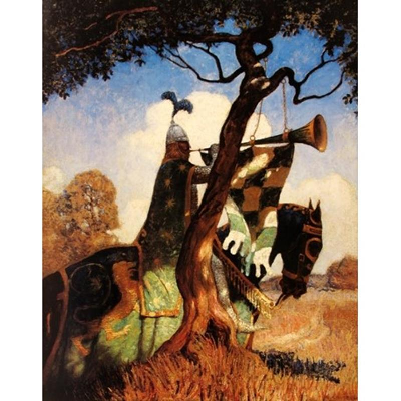 It Hung Upon a Thorn Exhibition Poster — N.C. Wyeth,11-99-00072-8