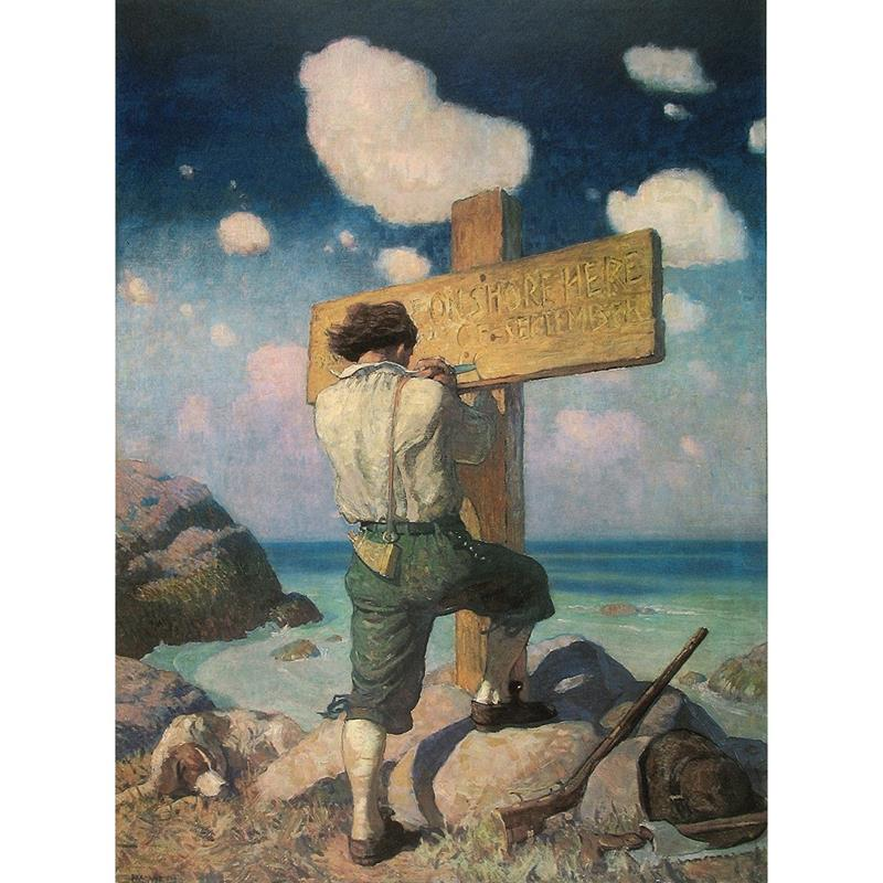 Robinson Crusoe Art Print by N.C. Wyeth,11-99-00075-2