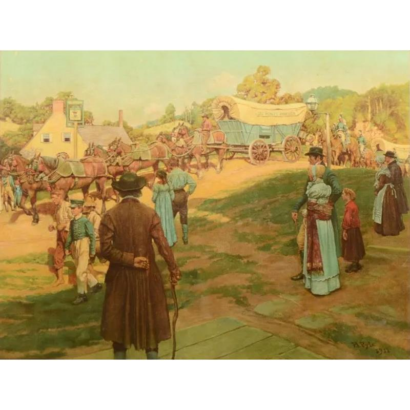 Conestoga Wagon Large Art Print by Howard Pyle,11-99-03836-9