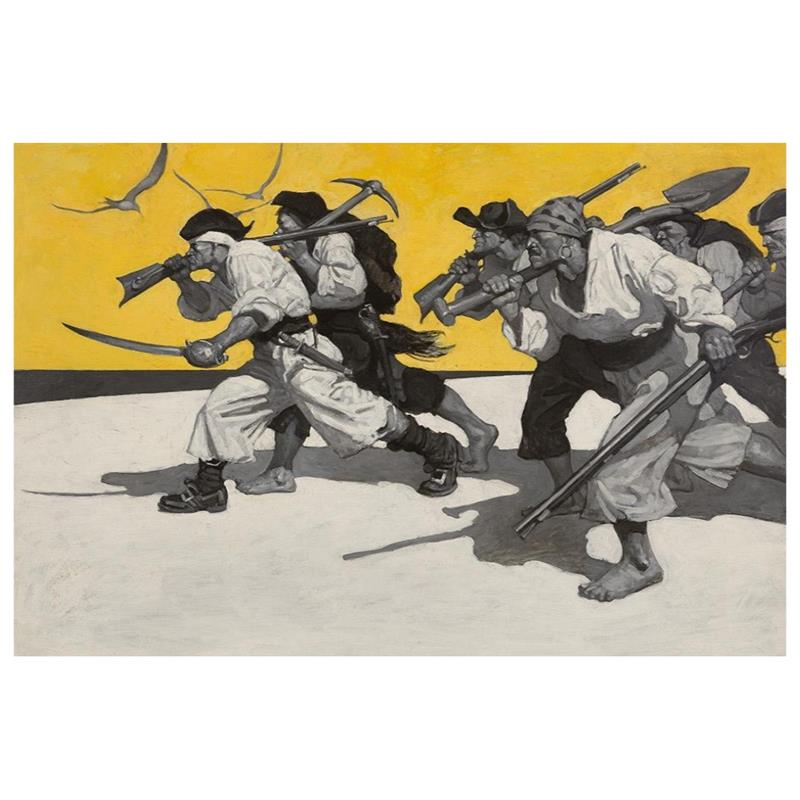 Treasure Island Endpapers Print — N.C. Wyeth,11-99-04828-3