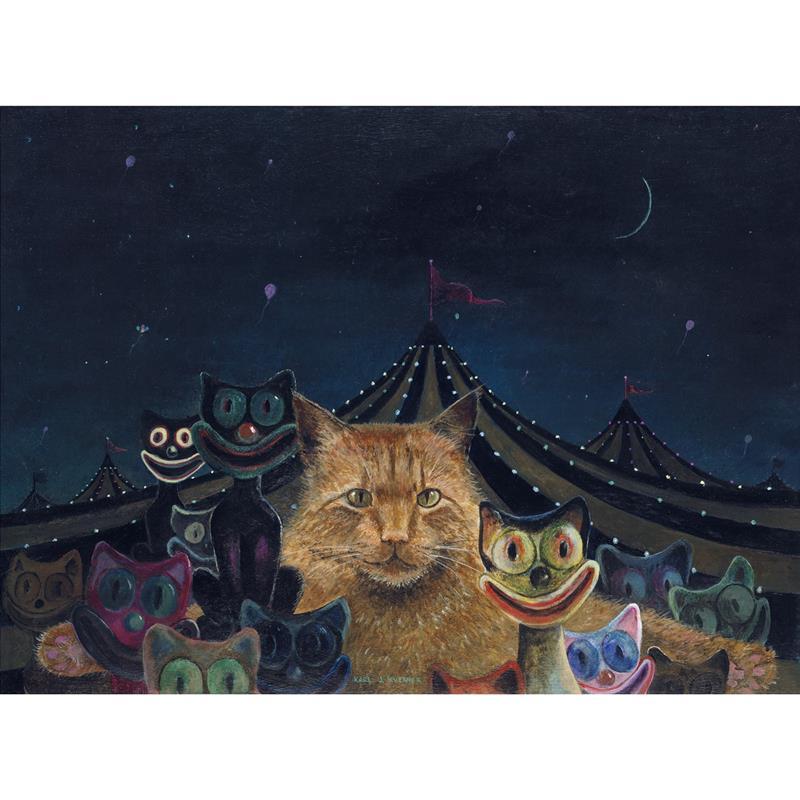 Carnival Cat Signed Limited Edition Print — Karl Kuerner