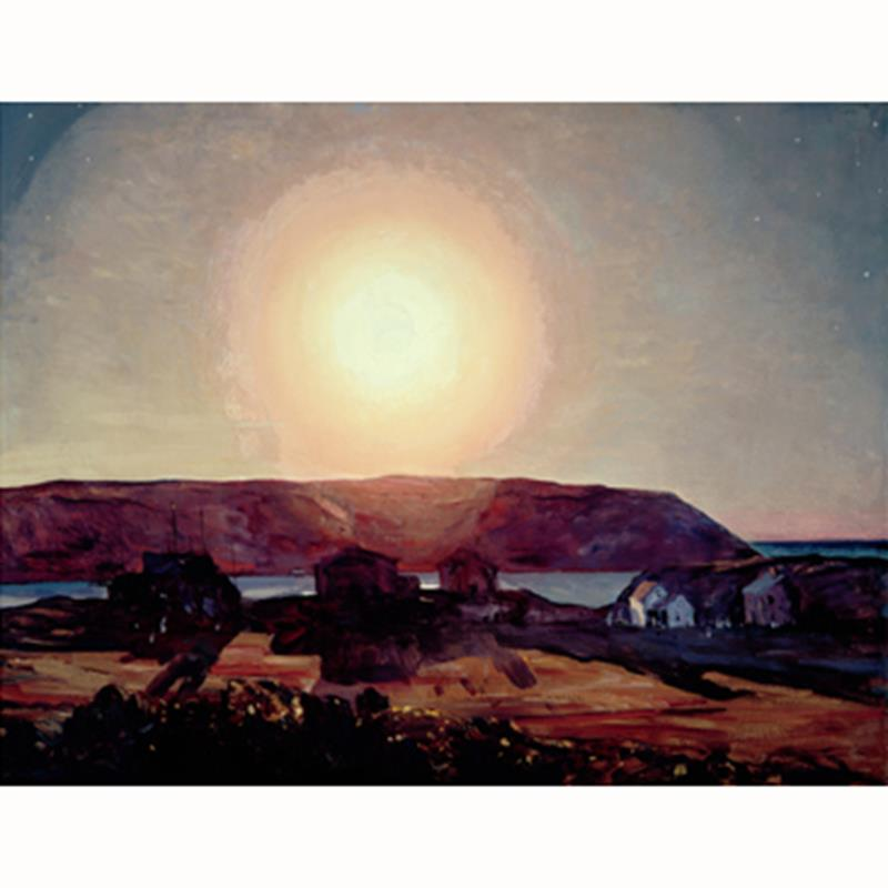 Late Afternoon, Monhegan Exhibition Poster — Rockwell Kent