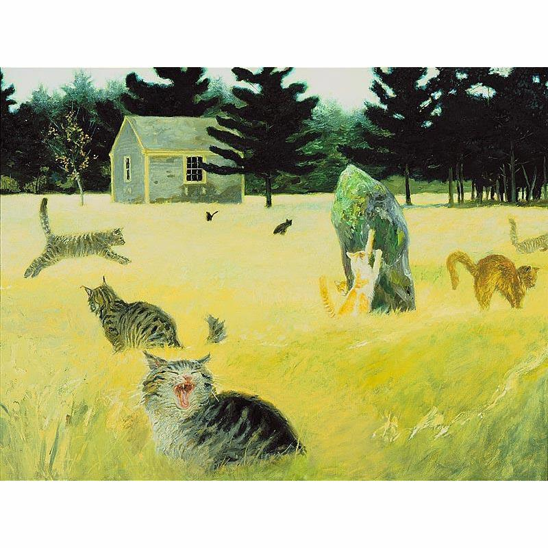 Maine Coon Cat Art Print by Jamie Wyeth