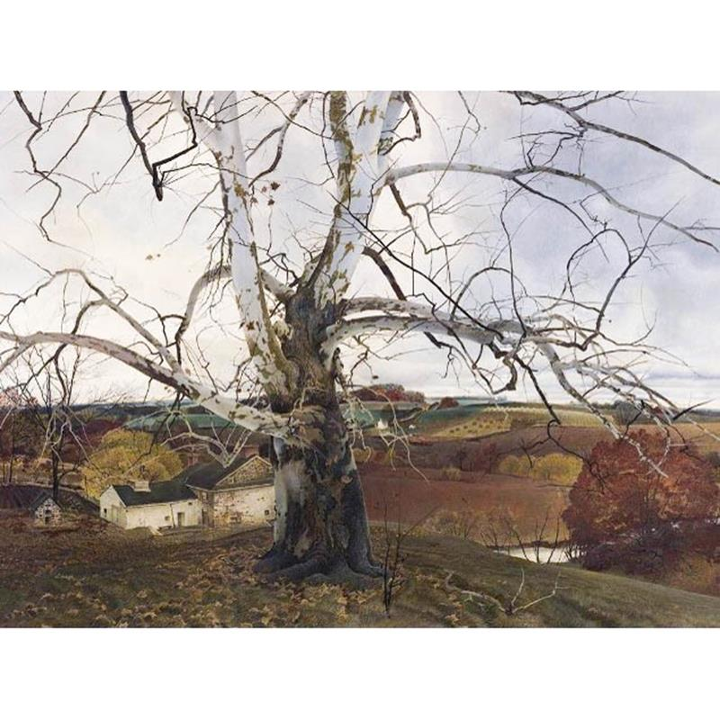 Pennsylvania Landscape 11x14 Matted Print — Andrew Wyeth