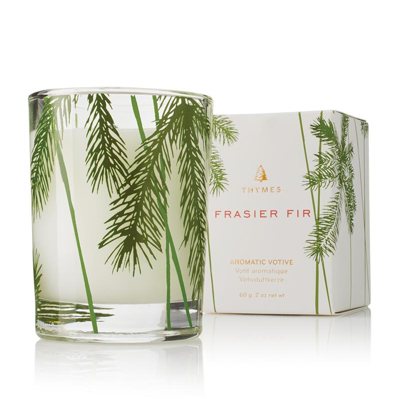 Frasier Fir Votive Candle Pine Needle Design 2oz,0520733000