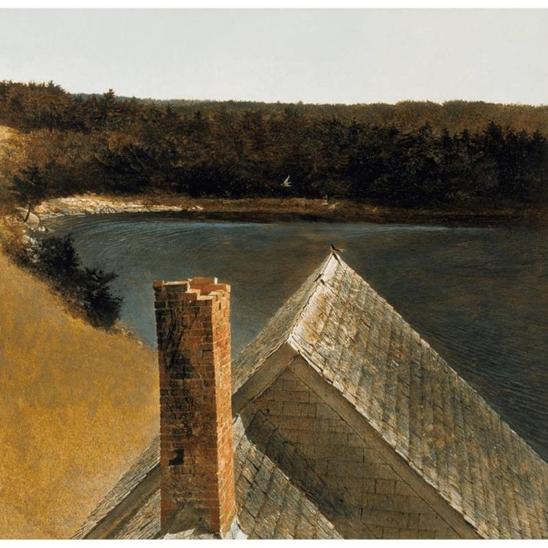 End of Olsons Art Print by Andrew Wyeth