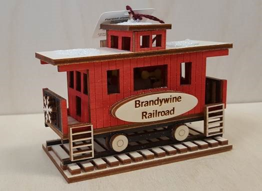 Lighted Brandywine Railroad Caboose,GC133 - CUSTOM