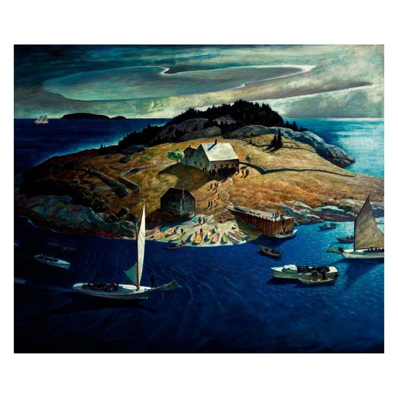 Island Funeral Art Reproduction