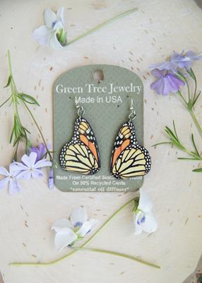 Monarch Butterfly Wings Earrings,1561
