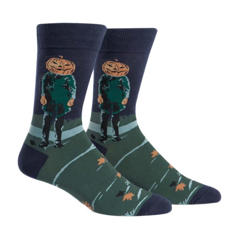 Pumpkin Head Socks,MEF0159
