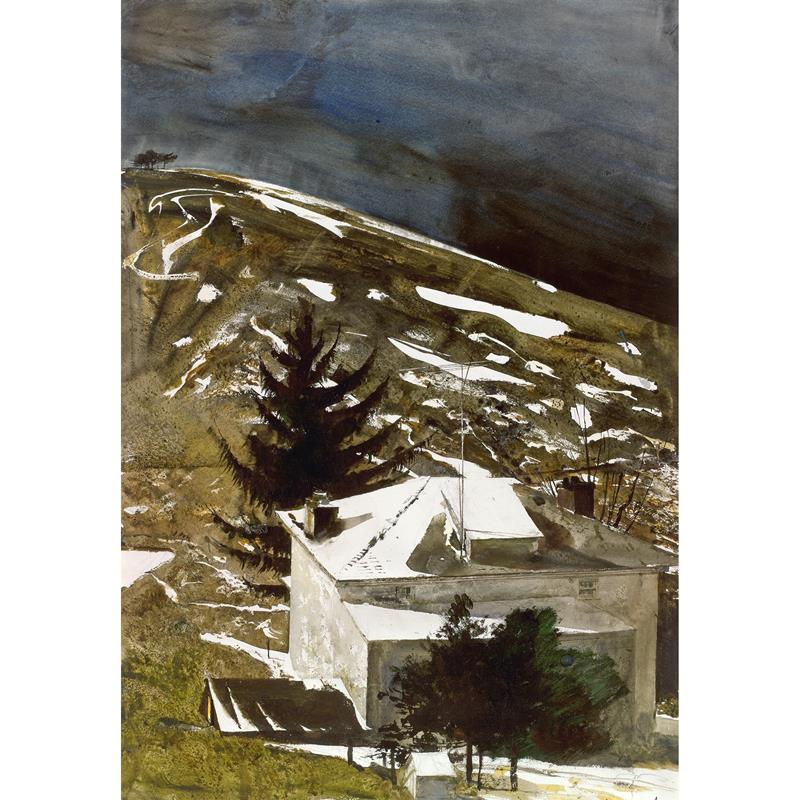 Wolf Moon limited edition reproduction by Andrew Wyeth