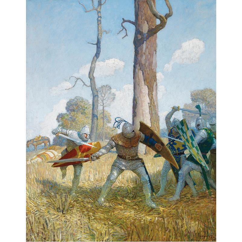 They Fought With Him on Foot Print — N.C. Wyeth