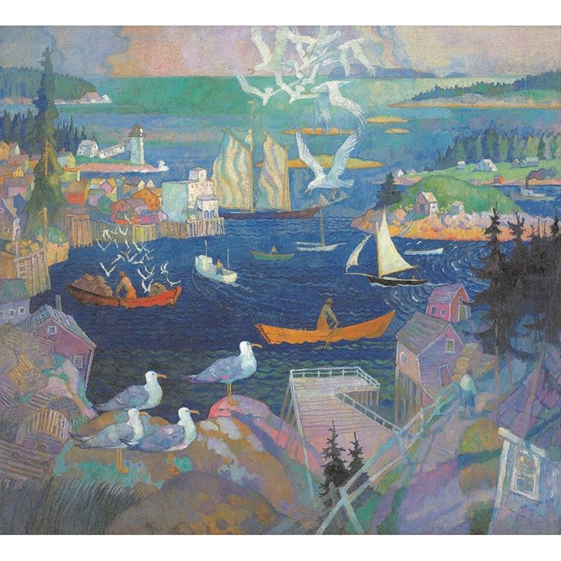 Harbor at Herring Gut art reproduction