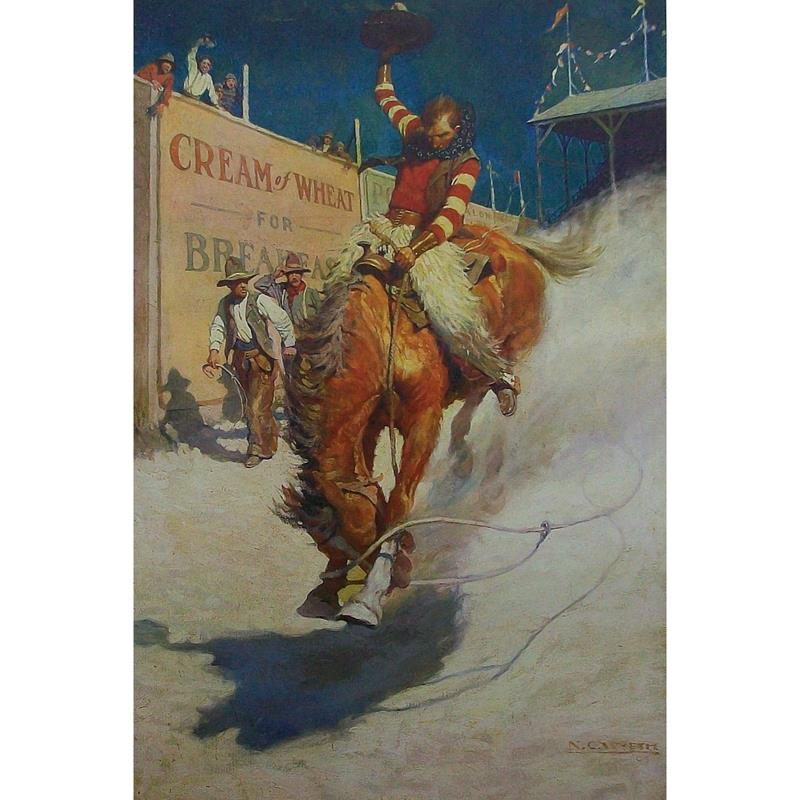 The Bronco Buster 11x14 Matted Print — N.C. Wyeth,MIOA0033_1114