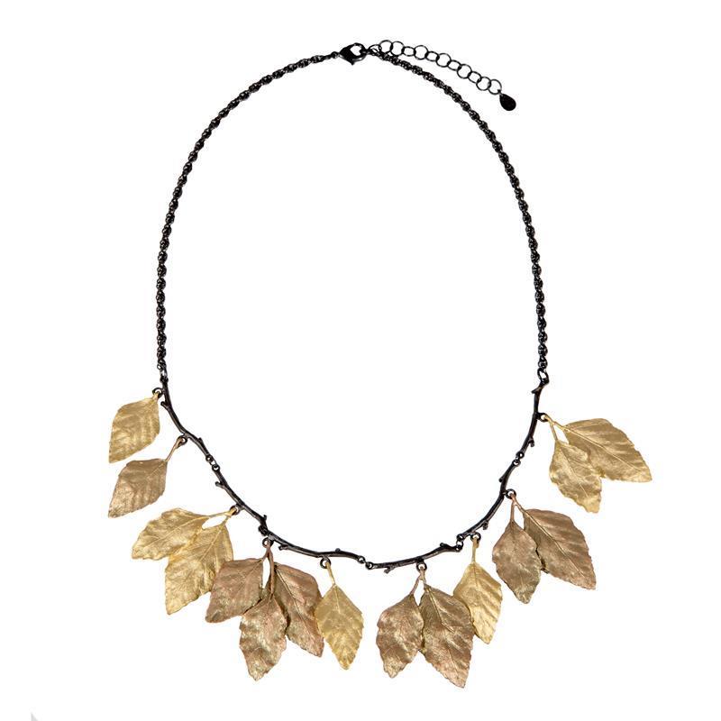 Autumn Birch Statement Necklace,9059GMG