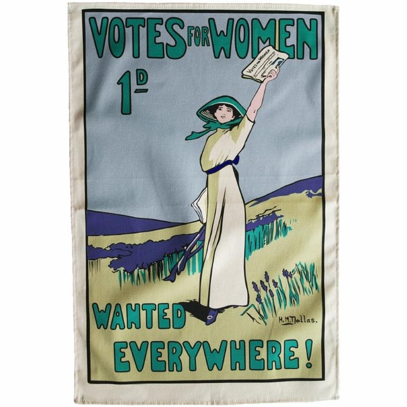 Votes for Women Wanted Tea Towel,TO145