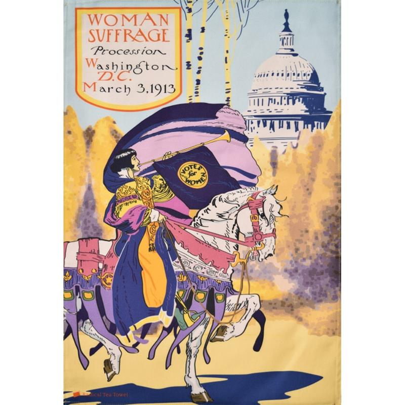 Washington DC Suffrage Tea Towel,TO328