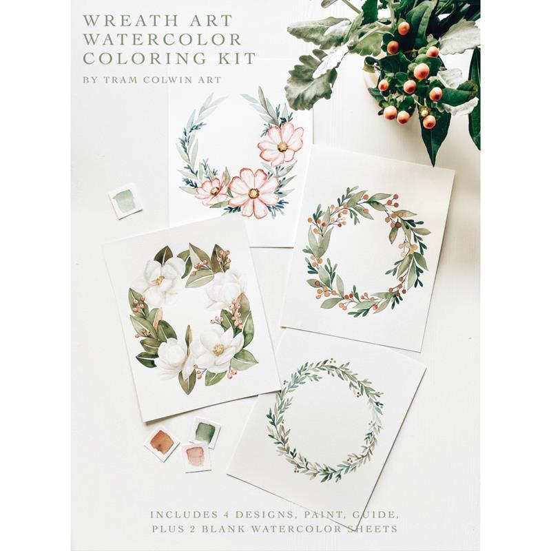 Floral Wreath Watercolor Kit