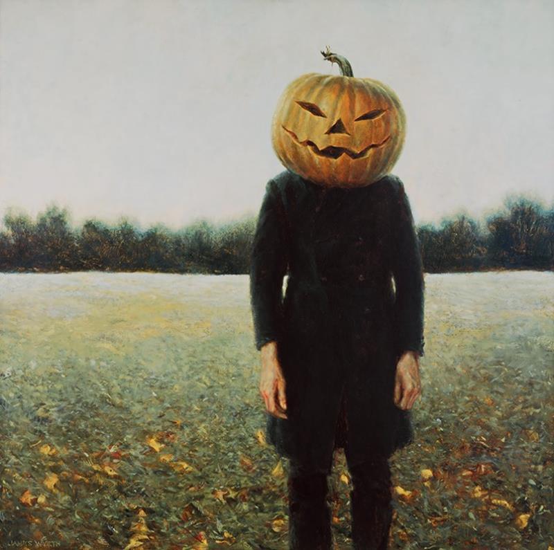 Pumpkin Head Reproduction — Jamie Wyeth